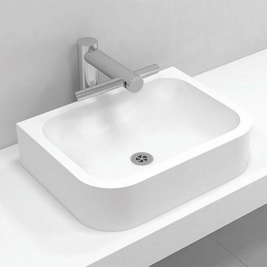 Corian® top mount basin single 306