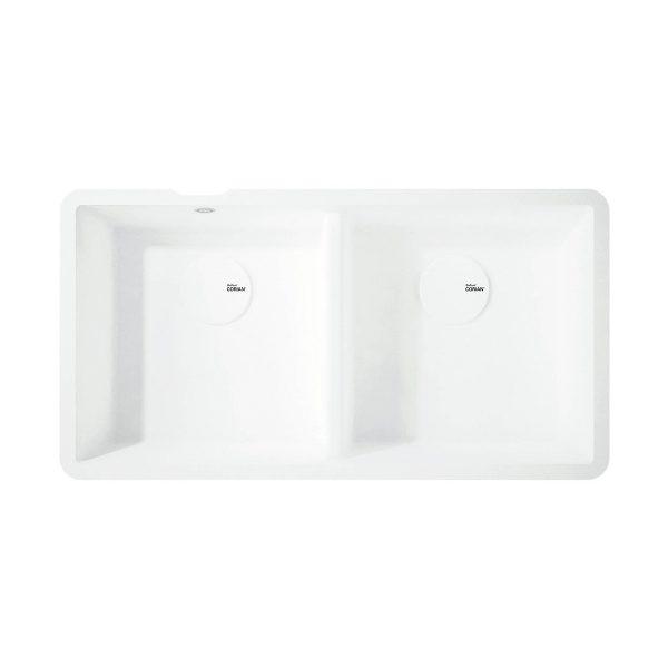 Corian® Salty basin double 9410 white