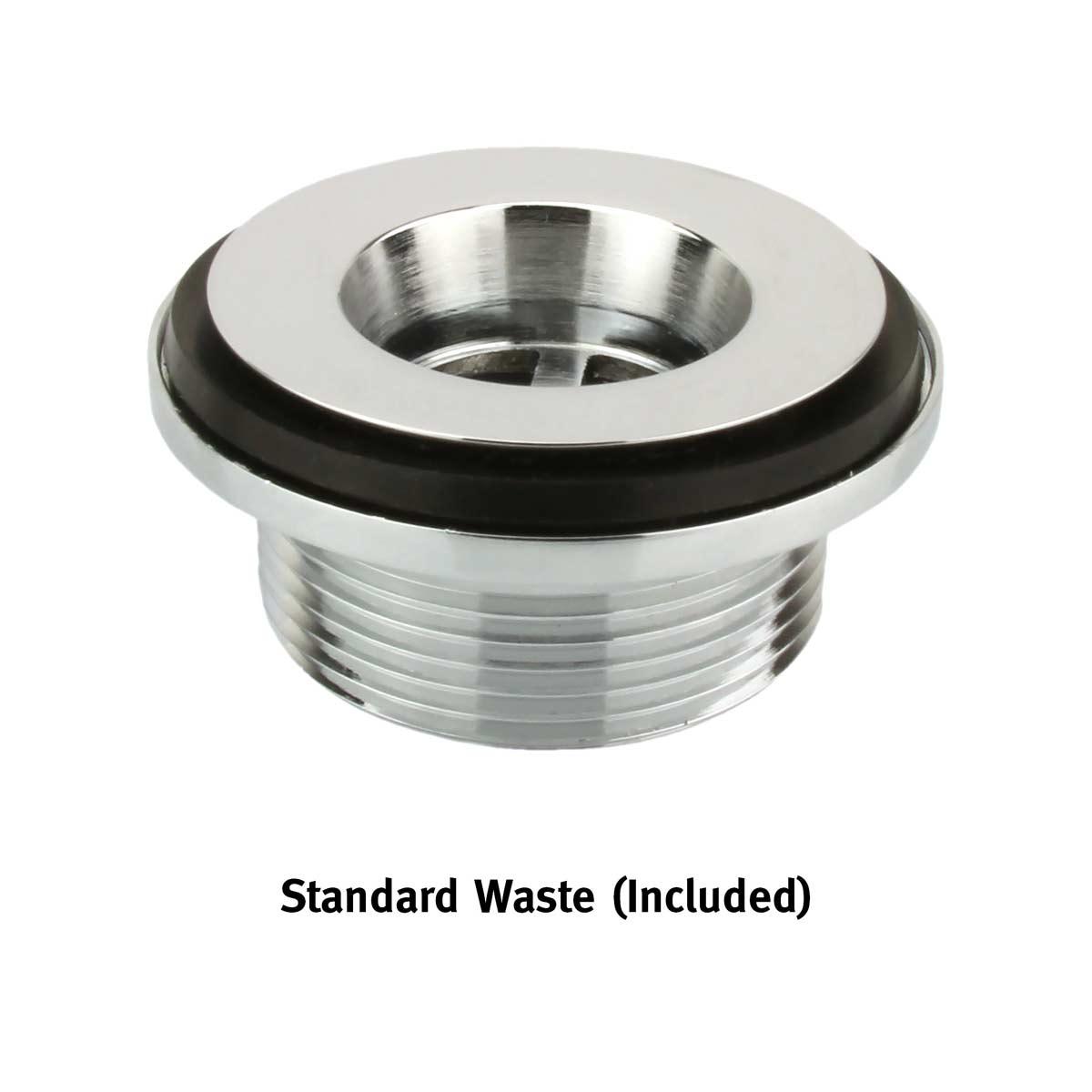 Corian® standard waste plug stainless steel
