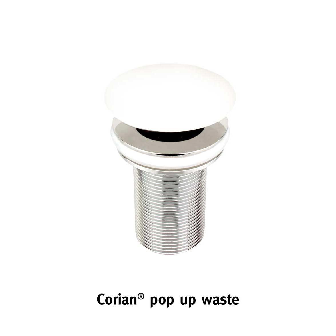 Corian® waste popup white