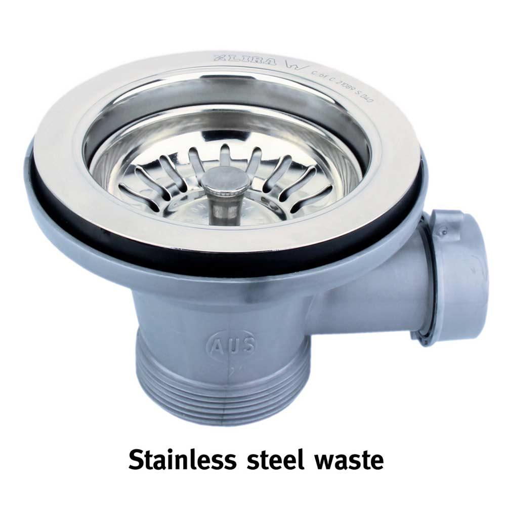 Corian® standard waste stainless steel