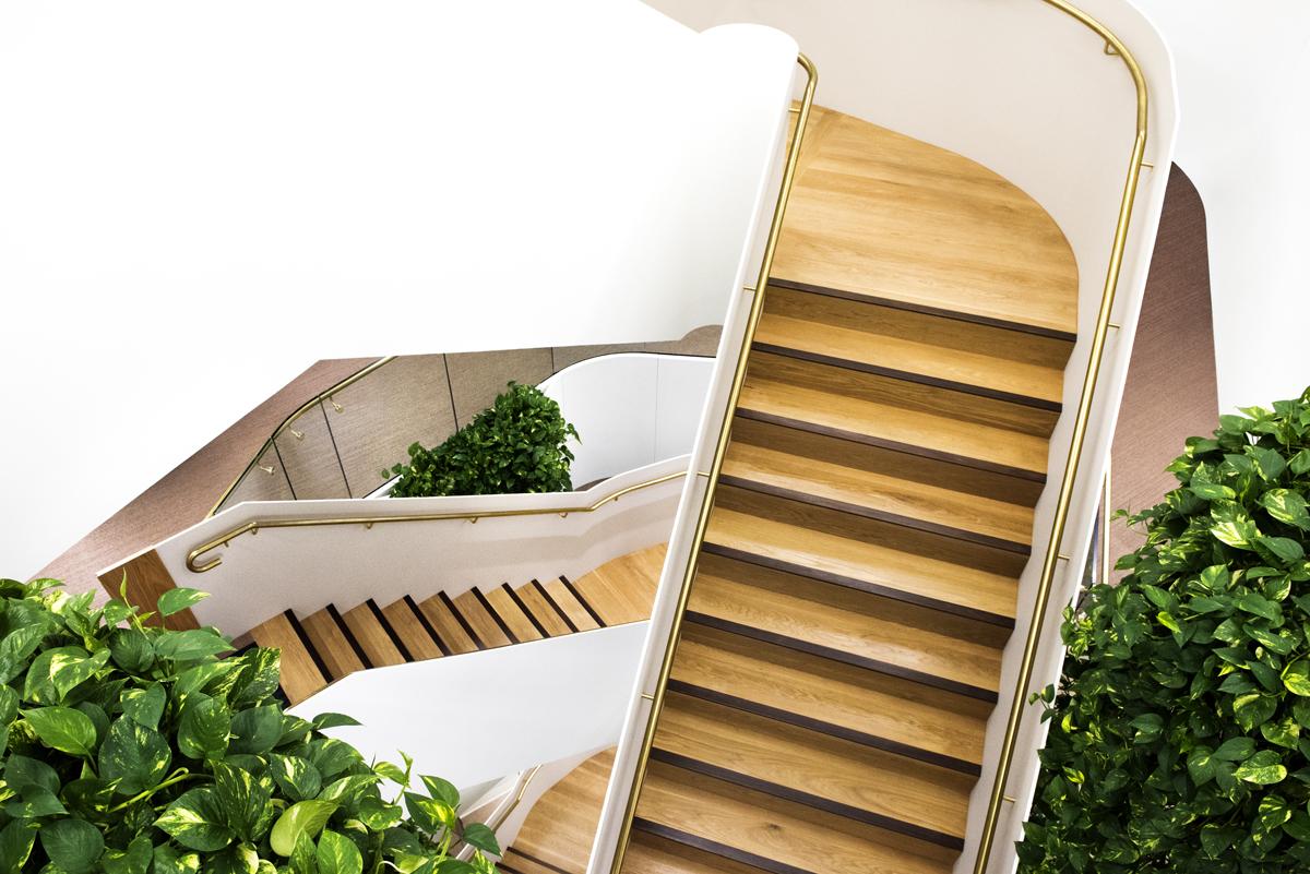 Corian staircase
