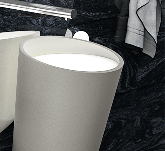 Designed by Ultraspace with corian materials