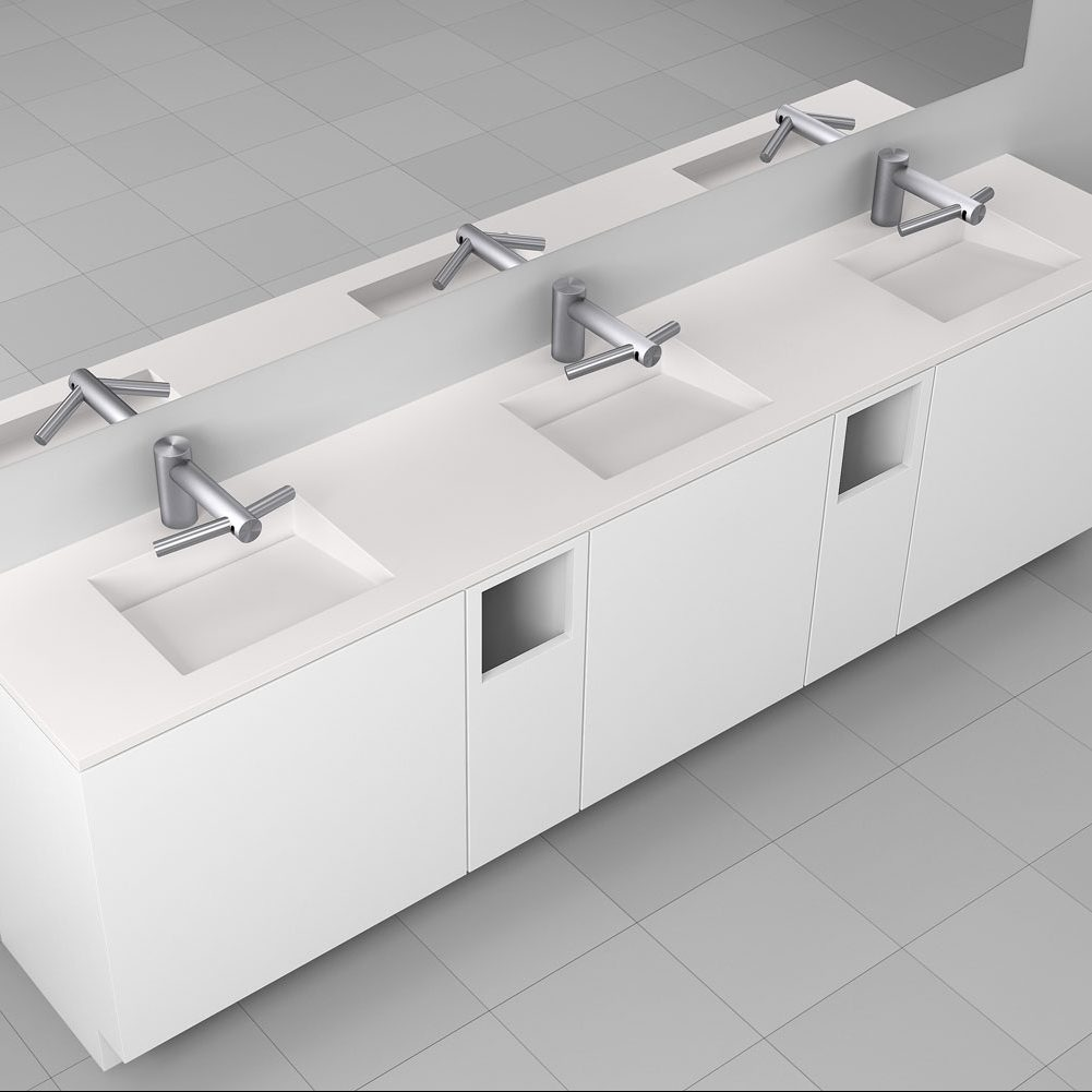Corian<sup>®</sup> Multi basin Washplane 4213