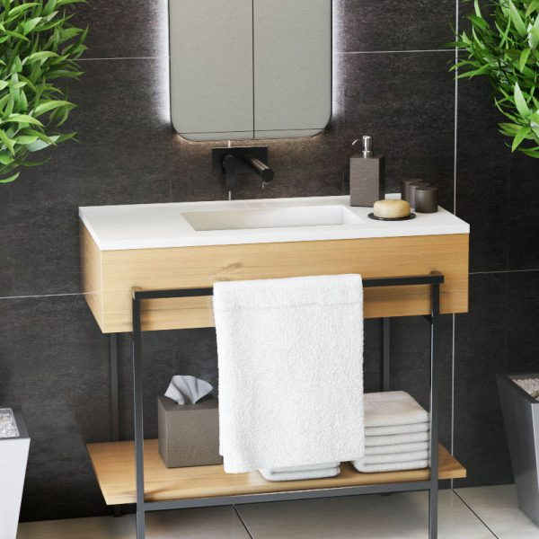 corian multi-basin washplane-Residential Bathroom 4211