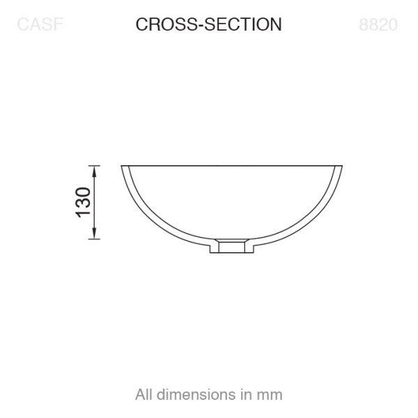 8820 Basin Cross Section