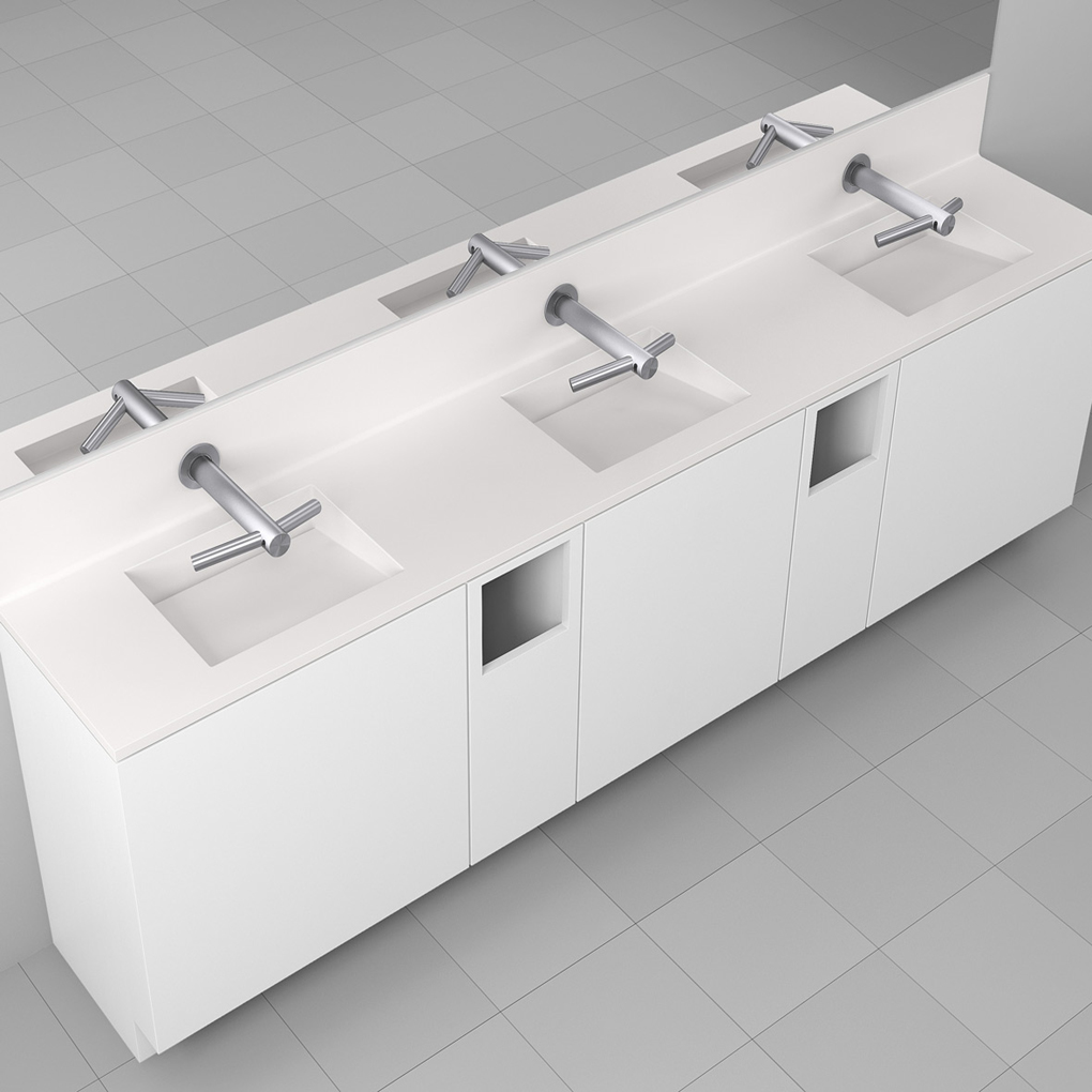Corian<sup>®</sup> Multi basin Washplane 4223