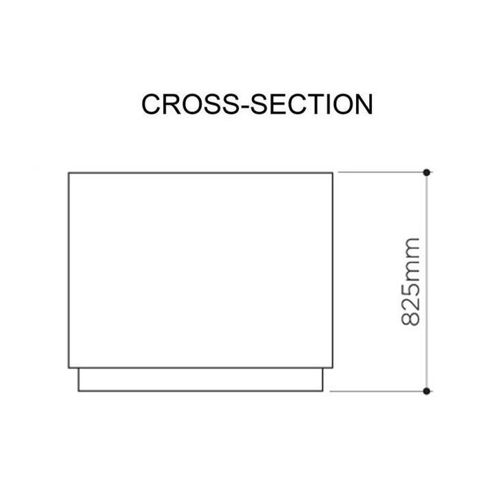 Cottesloe double litter bin cross section spec