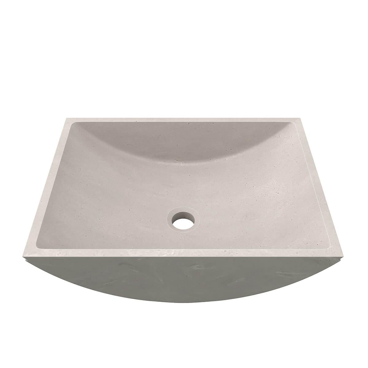 CASF Corian basin refresh 8410 neutral concrete front view