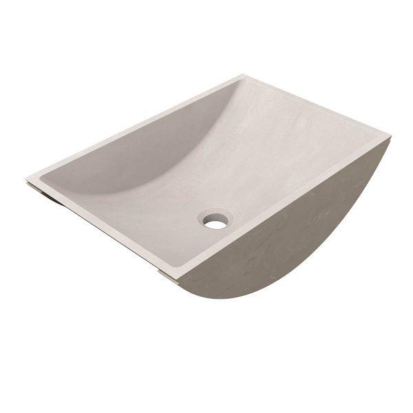 CASF Corian basin refresh 8420 neutral concrete 45degree view