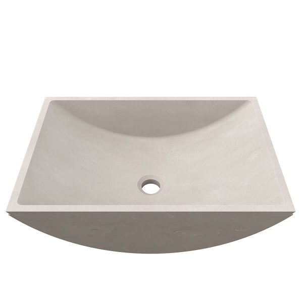 CASF Corian basin refresh 8420 neutral concrete front view