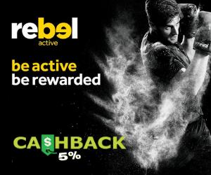 Rebel 5% CashBack Gift card
