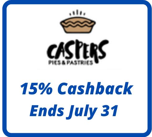 Caspers Pies & Pastries : 15% Cashback