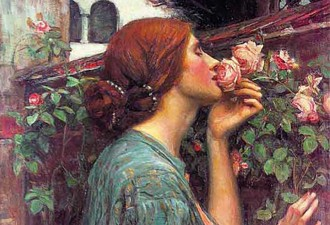 Detail: John Williams Waterhouse,  The Soul of the Rose, 1903