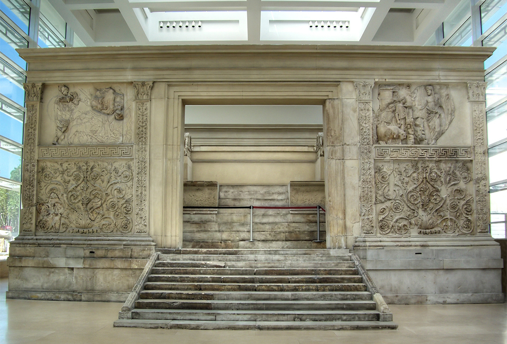 Ara Pacis Augustae, or Altar of Augustan Peace at Rome