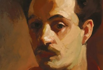 "Kahlil Gibran portrait:  ""Collection of the Telfair Museum of Art, Gift of Mary Haskell Minus"""