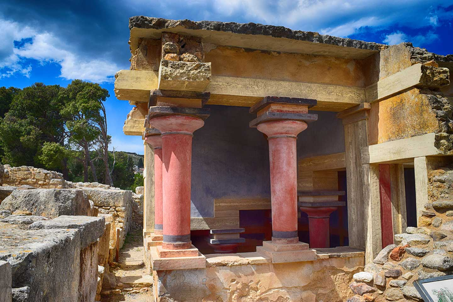 Post Lintel Construction in the remains of the Palace at Knossos
