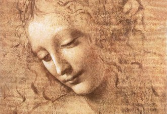 Leonardo da Vinci, Detail, La Scapigliata, 1508, oil on wood, courtesy Galleria Nazionale Parma, Parma, Emilia-Romagna, Italy, Europe