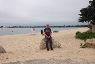 David Rankin on Shelter Island today, photo by Loretta Hyne