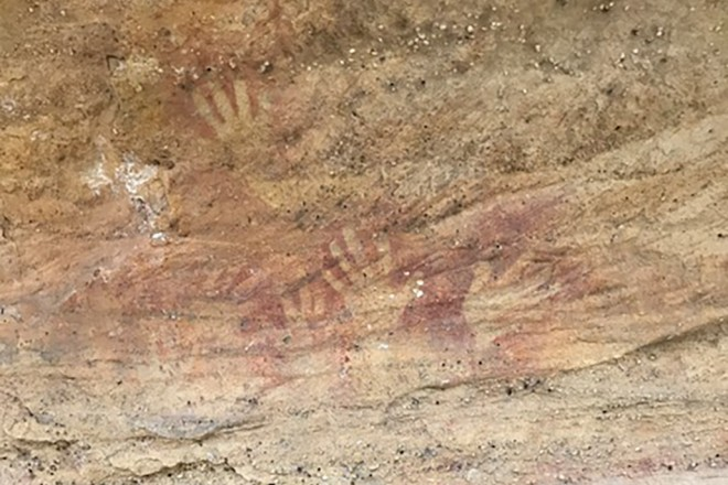 Australia: Wiradjuri Country – The Drip & Hands on Rock