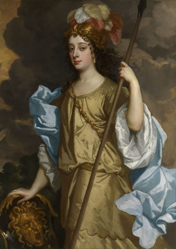 Detail: Sir Peter Lely, Barbara Villiers, Duchess of Cleveland, c.1665, courtesy Royal Collection Trust ©Her Majesty Queen Elizabeth II 2017
