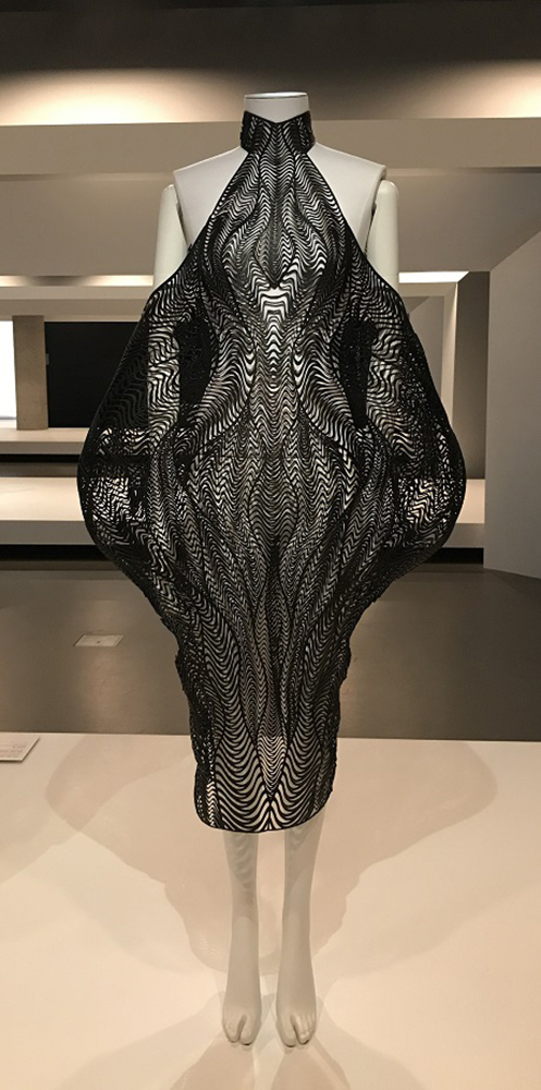 Exhibition view of Iris van Herpen's installation on display in NGV Triennial at NGV International, 2017. Photo: Belinda McDowall