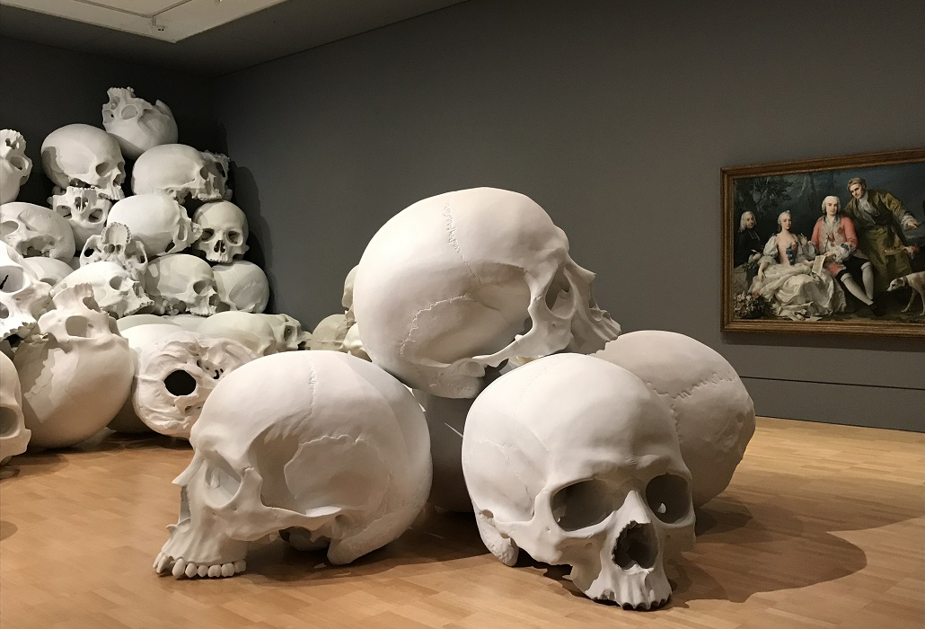 Installation view of Ron Mueck, Mass (2016-17). Photo: Belinda McDowall