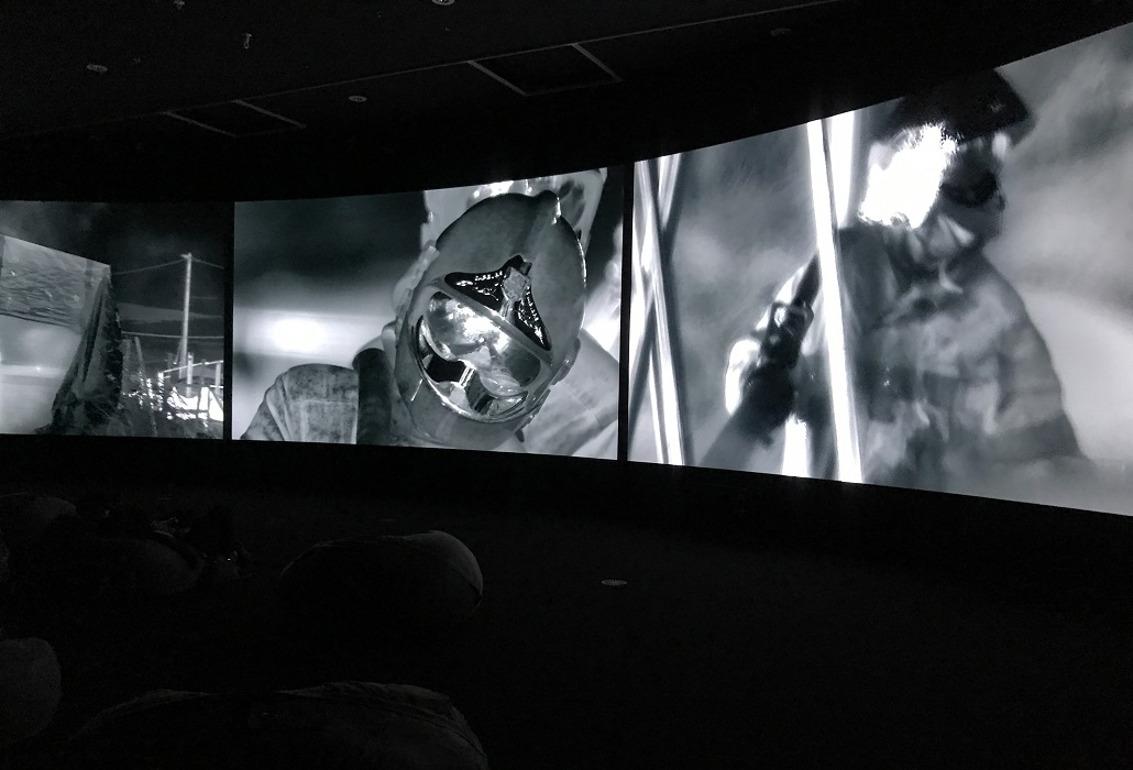 Installation view of Richard Mosse, Incoming (2015–16), National Gallery of Victoria, Melbourne. Photo: Belinda McDowall