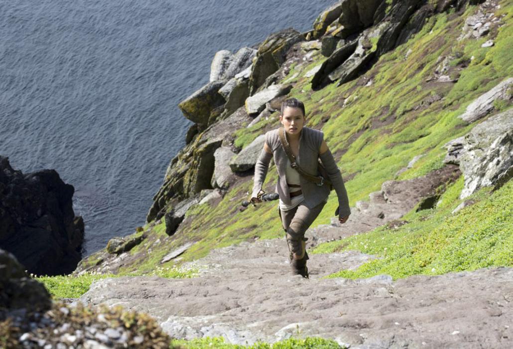 Rey on Skellig Island