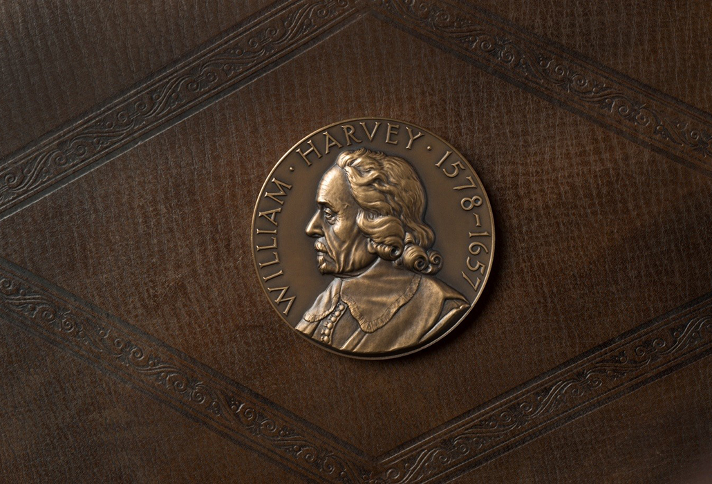 Bronze William Harvey tercentenary medal, 1957, photography by John Chase couretesy ©Royal College of Physicians