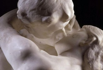 Detail Rodin: The Kiss, marble, 1888 - 1889, courtesy Musee Rodin, Paris