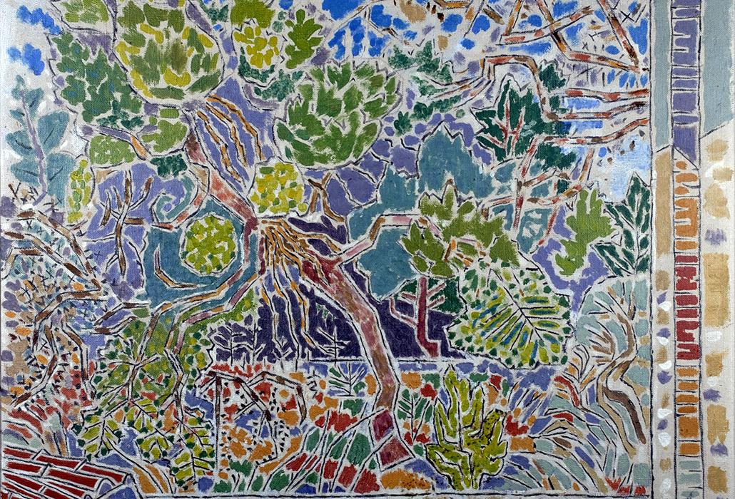 . Nikos Hadjikyriakos-Ghika, Pine trees in Poros, 1949. Oil on canvas.  Benaki Museum – Ghika Gallery, Athens. © Benaki Museum 2018