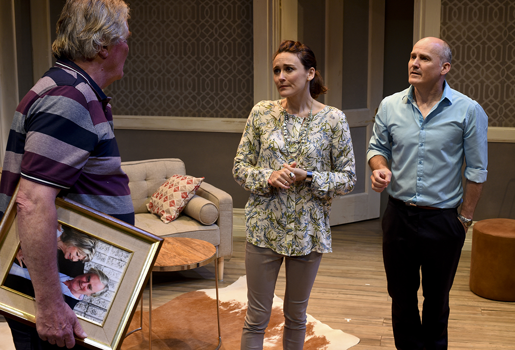 John Howard, Natalie Saleeba and Glenn Hazeldine in SORTING OUT RACHEL, photo by Heidrun Lohr