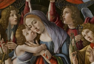 Detail Boticelli Madonna & Six ANgels