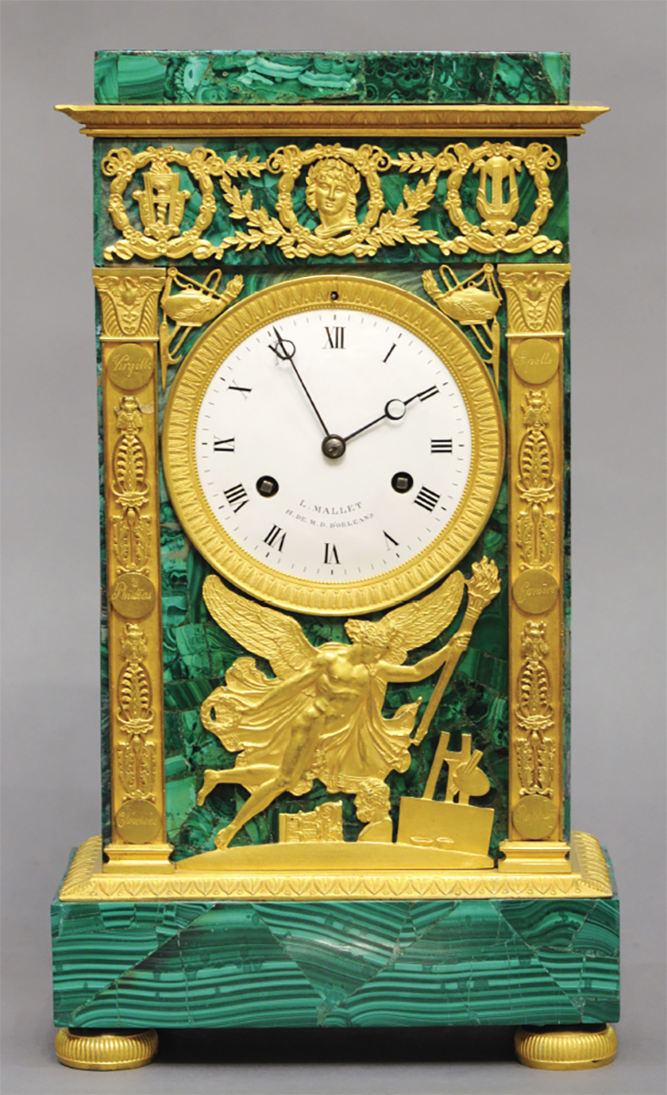 Malachite Clock