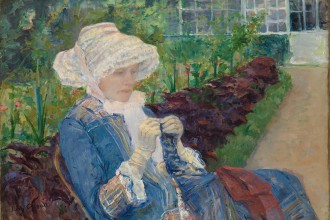 Cassatt, Lydia Crocheting-300