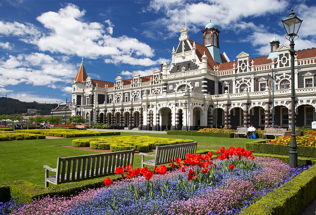 Railway Station, Dunedin, Tourism NZ photo by David Wall