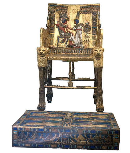 Tutankhamun's-Throne-&-Footstool