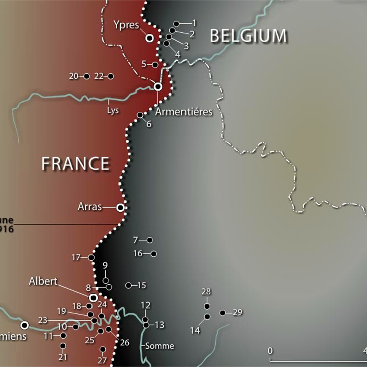 Map Western Front