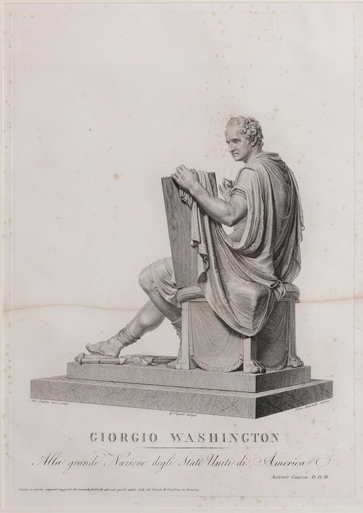 George Washington Canova Sketch 2