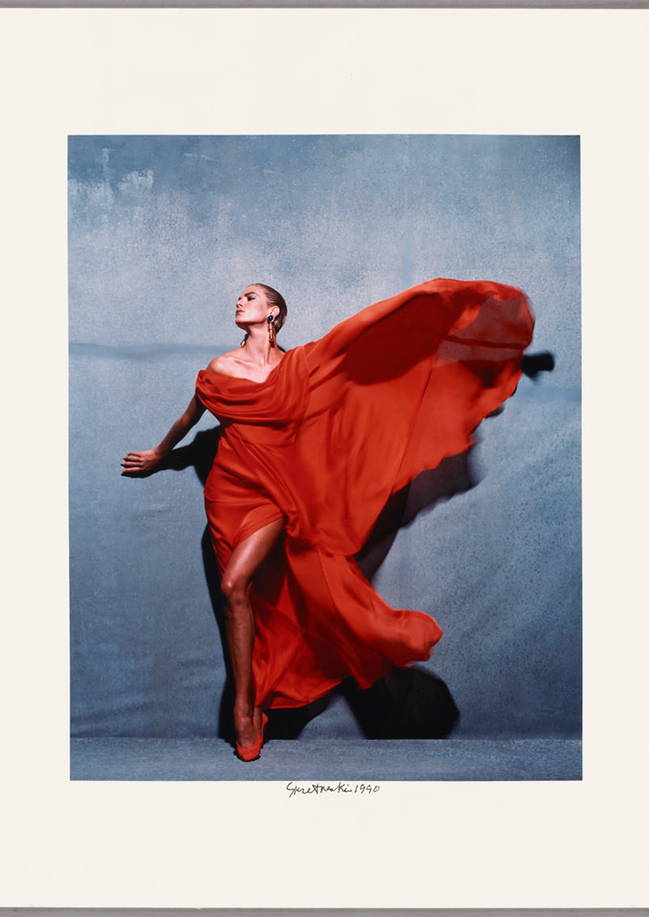 Givenchy Red, Paris; Victor Skrebneski (American, born 1929); Chicago, Illinois, United States, North America; 1990 to 1995; Cibachrome print; 51 × 40.4 cm (20 1/16 × 15 7/8 in.); 2016.92, © Victor Skrebneski, courtesy The J. Paul Getty Museum, Los Angeles, Purchased with funds provided by the Photographs Council