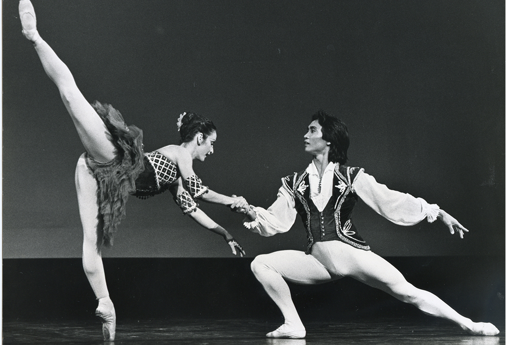 Li Cunxin and Mary McKendry in Esmeralda pas de deux, Sydney Opera House 1990, Photo Branco Gaica, courtesy Australian Ballet and Li Cunxin