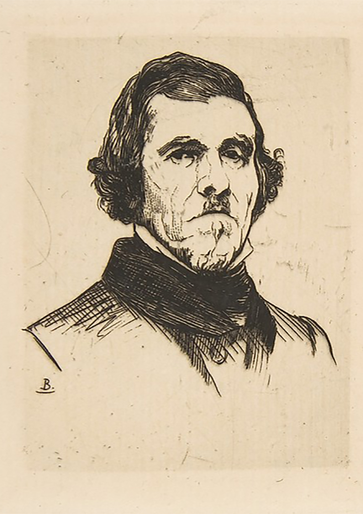 Portrait of Eugène Delacroix Félix Bracquemond (French, Paris 1833–1914 Sèvres), Etching, 1863, Portrait of Eugène Delacroix Félix Bracquemond (French, Paris 1833–1914 Sèvres) 1863, Etching, courtesy The Metropolitan Museum of Art, New York