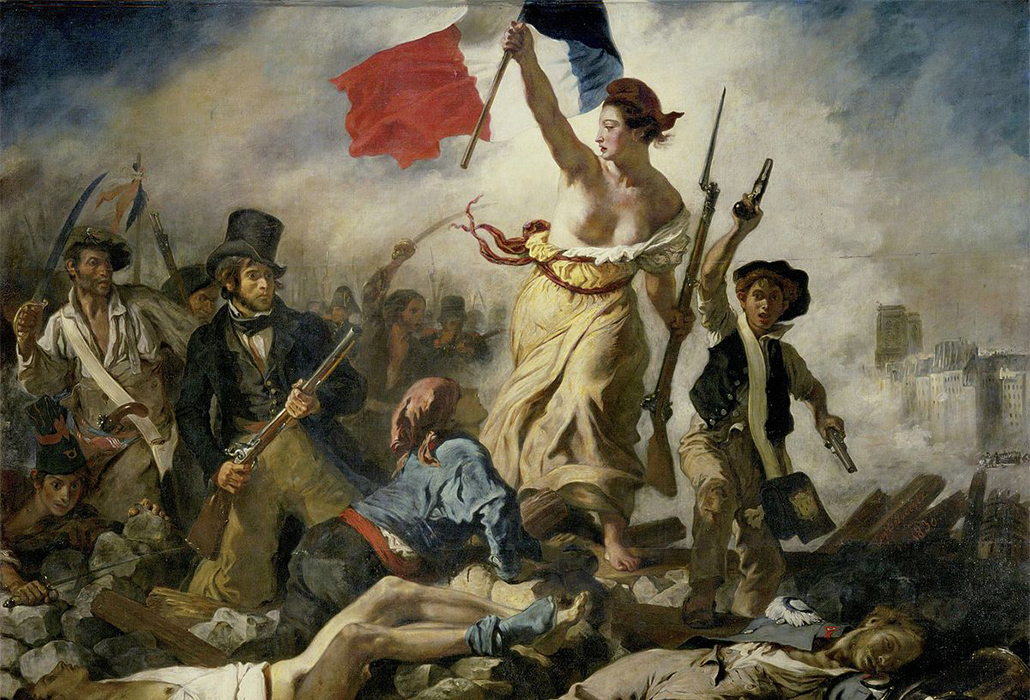 Liberty Flying Flag Delacroix