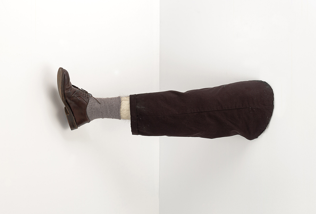 Robert Gober American born 1954 Untitled 1991 wood, beeswax, leather shoe, cotton fabric, human hair, and steel 31.8 x 90.2 x 23.5 cm The Museum of Modern Art, New York Robert and Meryl Meltzer, Anna Marie and Robert F. Shapiro, The Norman and Rosita Winston Foundation Inc. Funds, The Millstream Fund, and Jerry I. Speyer Fund, 1992 © Robert Gober, Courtesy Matthew Marks Gallery.