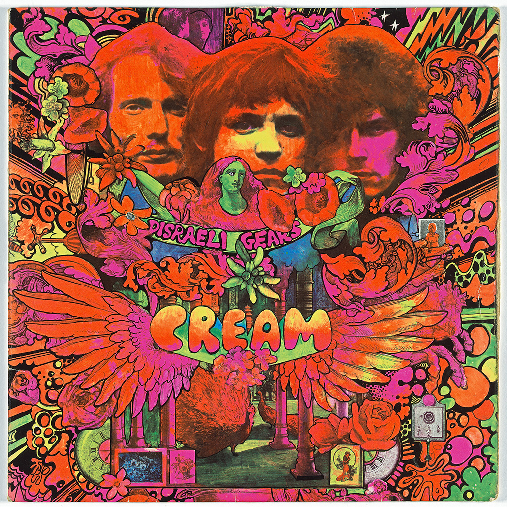 Martin Sharp Australian 1942–2013 Robert Whitaker (photographer) British 1939–2011 Reaction Records (record label) British 1966–67 Album cover for Cream, Disraeli Gears 1967 lithograph 30.5 x 30.5 cm The Museum of Modern Art, New York Committee on Architecture and Design Funds, 2014 © Estate of Martin Sharp / Licensed by Copyright Agency, 2018