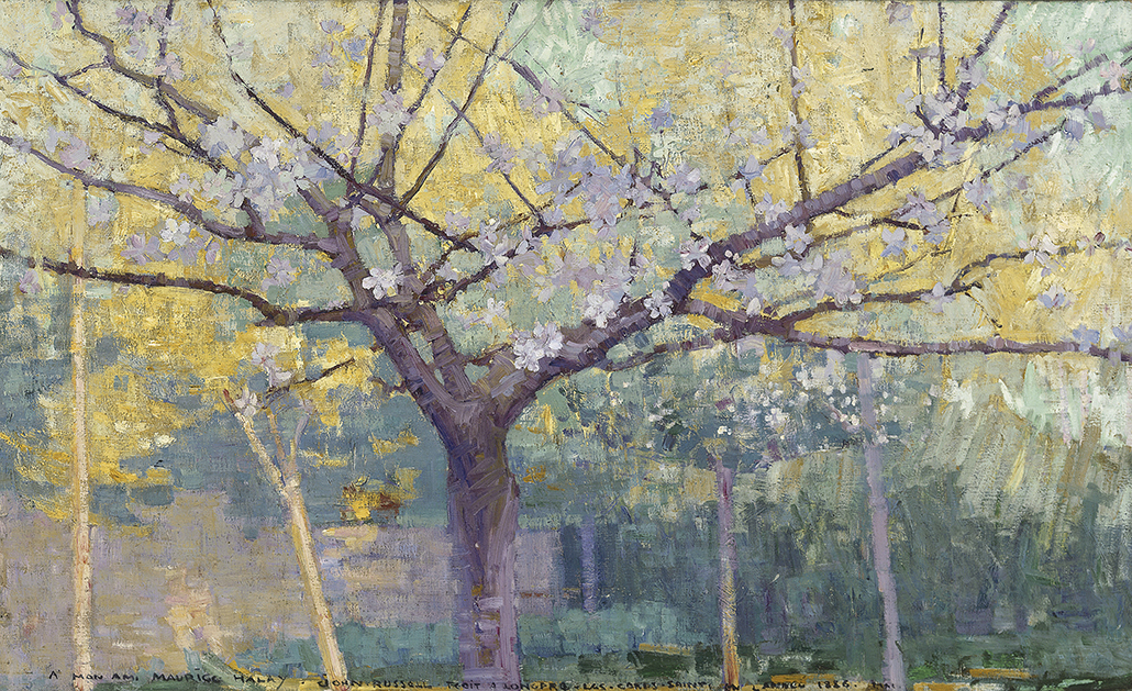 John Russell: 'The garden, Longpré-les Corps-Saints' 1887, oil on canvas, 73 x 120 cm, Private collection, Melbourne Photo: AGNSW, Jenni Carter