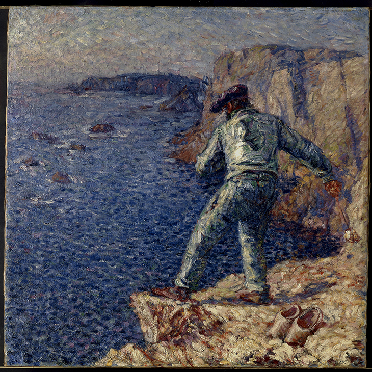 John Russell 'Fisherman in blue' 1904/06 oil on canvas 81 x 81 cm, Musée d'Orsay, Paris, held by the Musée de Morlaix, bequest of Mme Jouve 1948