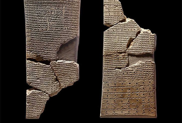 Tablets from the Library of Ashurbanipal. Ninevah, Iraq, courtesy British Museum
