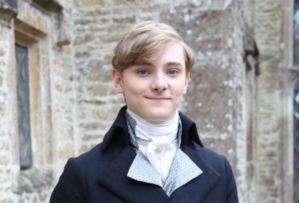 Louis Davison as Geoffrey Charles in Series 4 of Poldark